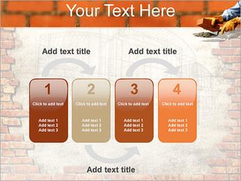 Edifício da parede de tijolo Modelos de apresentações PowerPoint - Slide 11