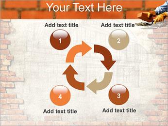 Edifício da parede de tijolo Modelos de apresentações PowerPoint - Slide 14