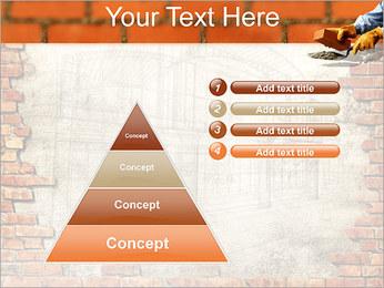 Edifício da parede de tijolo Modelos de apresentações PowerPoint - Slide 22