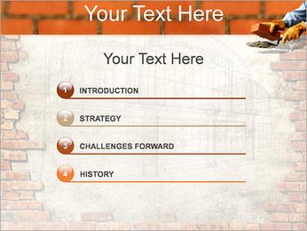 Edifício da parede de tijolo Modelos de apresentações PowerPoint - Slide 3