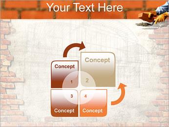 Edifício da parede de tijolo Modelos de apresentações PowerPoint - Slide 5