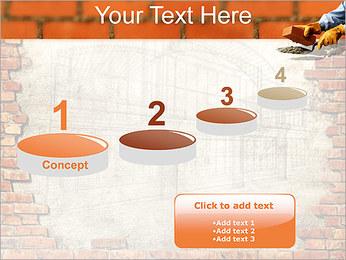 Edifício da parede de tijolo Modelos de apresentações PowerPoint - Slide 7