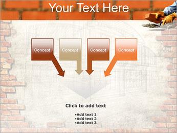 Edifício da parede de tijolo Modelos de apresentações PowerPoint - Slide 8