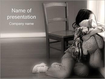 Little Girl Alone Sjablonen PowerPoint presentatie