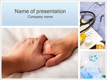 Handen van de Holding Sjablonen PowerPoint presentatie
