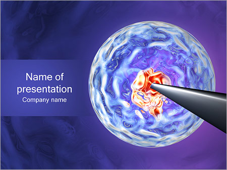 cell manipulation powerpoint template & backgrounds id 0000001131, Modern powerpoint