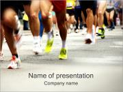 ランニング PowerPointプレゼンテーションのテンプレート