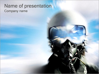 Fighter Pilot PowerPoint Template