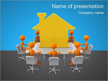 家の周りの人々 PowerPointプレゼンテーションのテンプレート