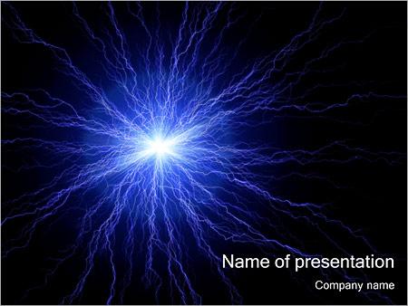 Blue Plasma PowerPoint Template