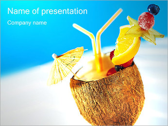Coconut Cocktail Sjablonen PowerPoint presentatie