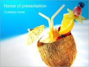 Coconut Cocktail PowerPoint Templates