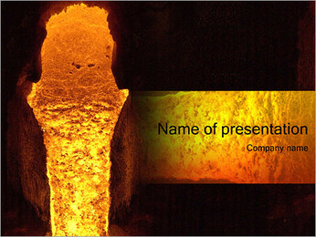 Расплавленной стали Шаблоны презентаций PowerPoint