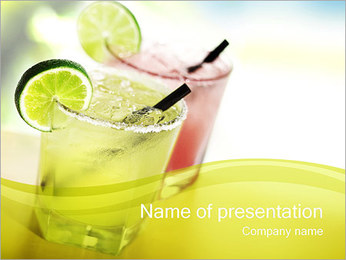 Margaritas with Lime PowerPoint Templates - Slide 1