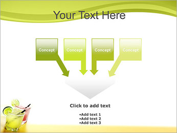 Margaritas with Lime PowerPoint Templates - Slide 8