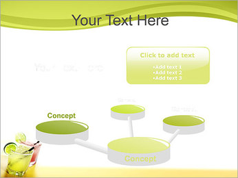 Margaritas with Lime PowerPoint Templates - Slide 9