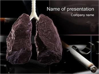Longkanker Sjablonen PowerPoint presentatie