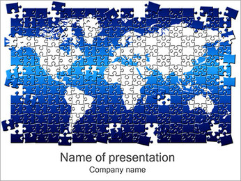Pussel av World Map PowerPoint presentationsmallar