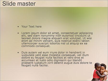 African Children PowerPoint Template Backgrounds Google Slides