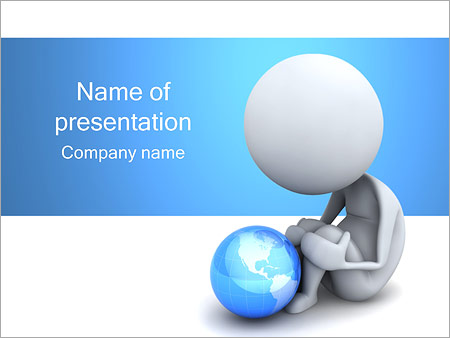 Lonely And Globe Powerpoint Template Backgrounds Google Slides