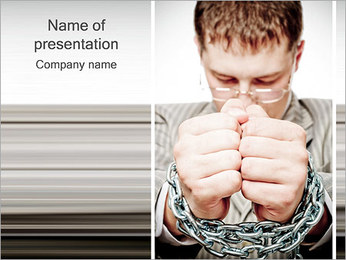 Chain on Hands PowerPoint Template