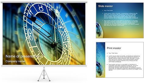 Prague Astronomical Clock PowerPoint Template