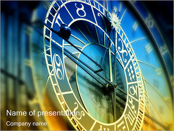 Prague Astronomical Clock PowerPoint Template - Slide 1
