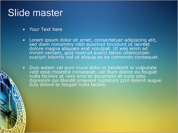 Prague Astronomical Clock PowerPoint Template - Slide 2