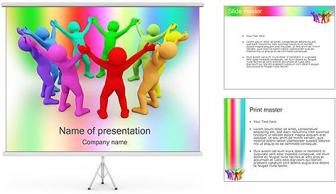 Pessoas Círculo Modelos de apresentações PowerPoint