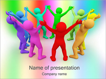People Circle PowerPoint Template