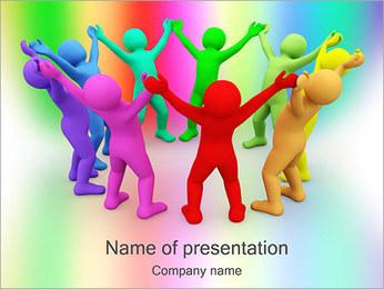 Pessoas Círculo Modelos de apresentações PowerPoint - Slide 1