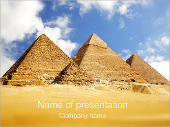 Pyramids Giza PowerPoint Template
