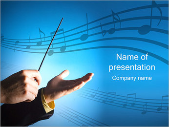 Conductor Hands PowerPoint Template