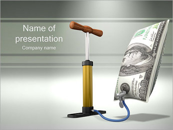 Inflated Dollar PowerPoint Template