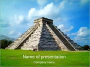 Mayan pyramid PowerPoint presentationsmallar