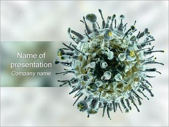 ウイルス PowerPointプレゼンテーションのテンプレート