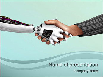 Technology Hand PowerPoint Template
