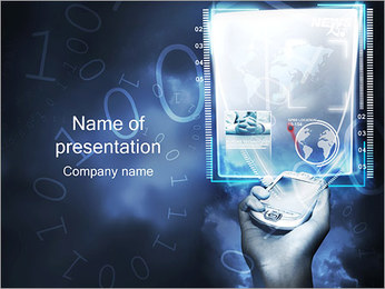 Future Technology PDA PowerPoint Template