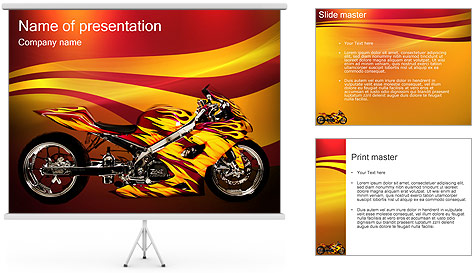 motorcycle powerpoint template backgrounds id 0000001193. Black Bedroom Furniture Sets. Home Design Ideas