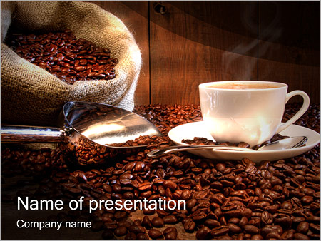 coffee cup powerpoint template & backgrounds id 0000001197, Presentation templates