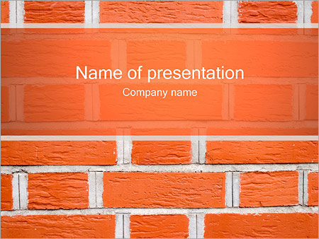 Brick Wall PowerPoint Template
