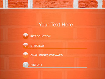 Brick Wall PowerPoint Template - Slide 3