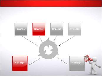 Homem com Altifalante Modelos de apresentações PowerPoint - Slide 10