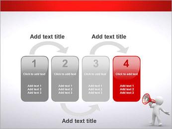 Homem com Altifalante Modelos de apresentações PowerPoint - Slide 11