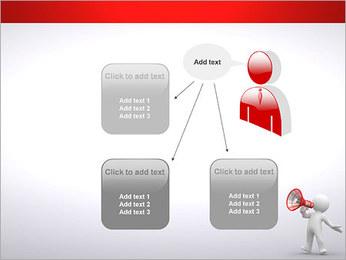 Homem com Altifalante Modelos de apresentações PowerPoint - Slide 12