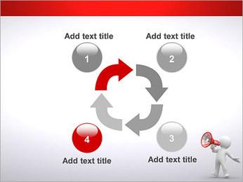 Homem com Altifalante Modelos de apresentações PowerPoint - Slide 14