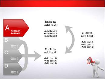Homem com Altifalante Modelos de apresentações PowerPoint - Slide 16