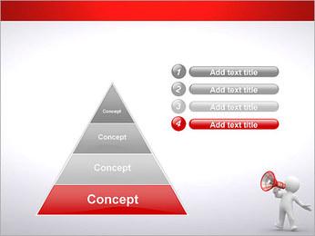 Homem com Altifalante Modelos de apresentações PowerPoint - Slide 22
