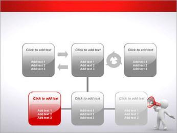 Homem com Altifalante Modelos de apresentações PowerPoint - Slide 23