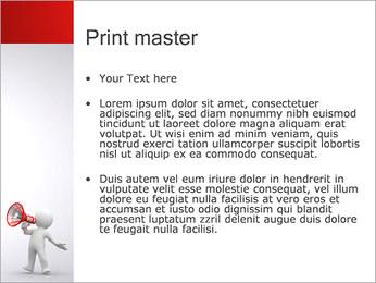 Homem com Altifalante Modelos de apresentações PowerPoint - Slide 24